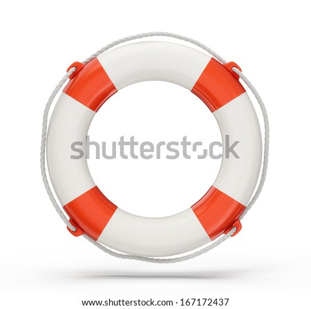 lifebuoy isolated on a white background. 3d illustration