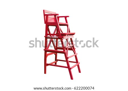lifeguard on white background with clipping path
