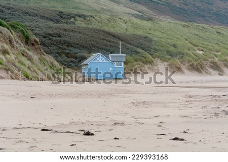Lifeguard hut on Woolacombe Sands beach closed for winter