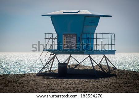 Lifeguard Tower - stock photo