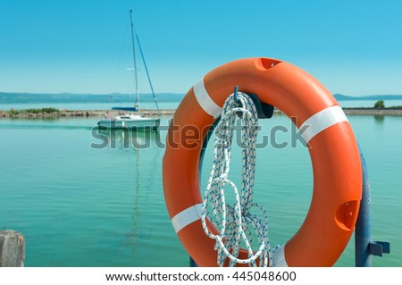 Lifeline for safety - stock photo