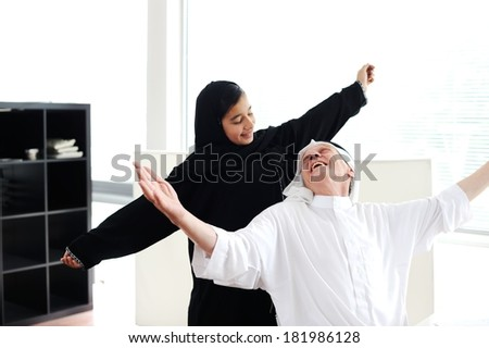 Lifestyle family people posing - stock photo