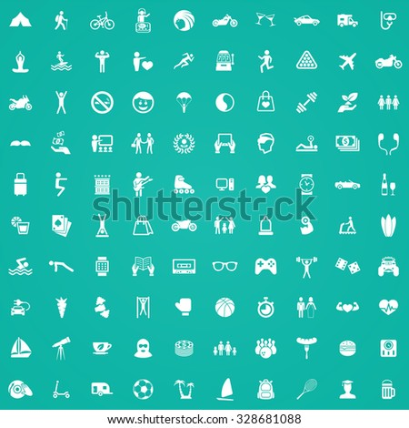 lifestyle 100 icons universal set for web and mobile