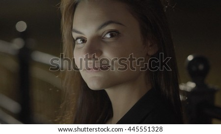lifestyle portrait of attractive young women. happy smiling female model.  - stock photo