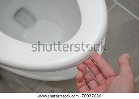 Lift toilet - stock photo