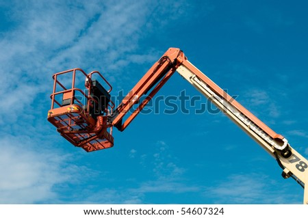 lifter against blue sky
