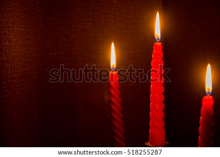 Light a candle in the darkness of the holiday