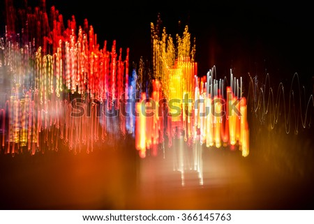 Light abstract motion blur
