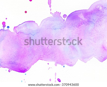 Light abstract pink painted watercolor splashes background