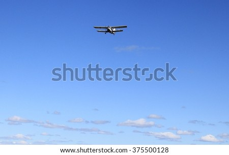 Light aircraft in flight. 1