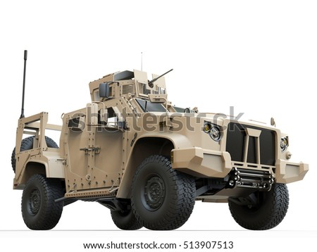 Light all terrain tactical military vehicle - 3D Illustration