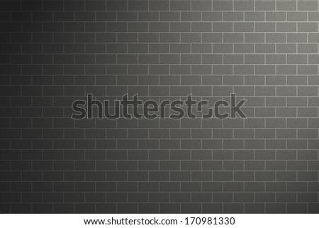 Light and shade grey wall - stock photo