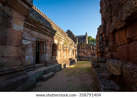 Light and Shadow in Phanom Rung Historical Park in Buriram, Thailand