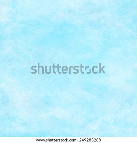 Light Aqua Water Blue Watercolor Paper Colorful Texture Background - stock photo