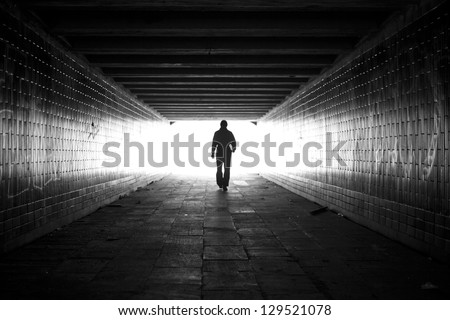 Light at the end. - stock photo