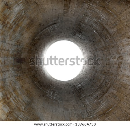 Light at the end of the tunnel - stock photo