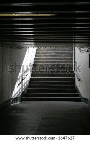 Light at the end of the tunnel - also available in landscape - stock photo