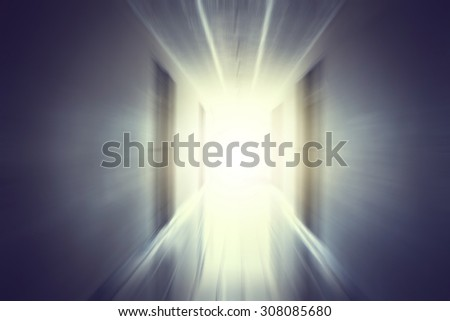 Light at the end of way - stock photo
