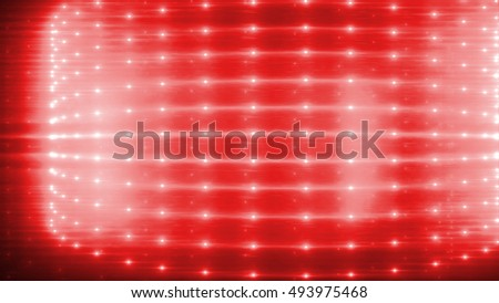 Light background. Lanterns. Lighting installation. Technology  wallpaper. 3D render. Explosion of glowing particles. The design for use in the projects business, science, education and technology.