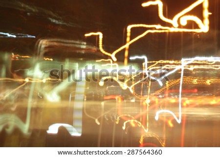 light background of car in city at night