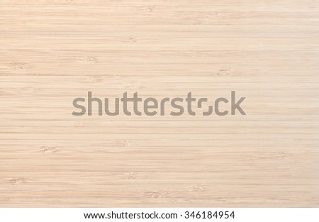 Light Bamboo Wooden Board Background, Texture - stock photo