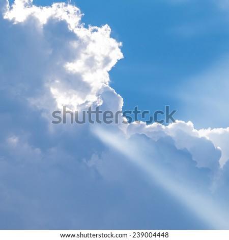 Light beam  - stock photo
