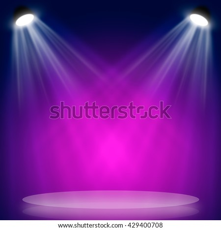 Light beam hitting at surface with copy space - stock photo