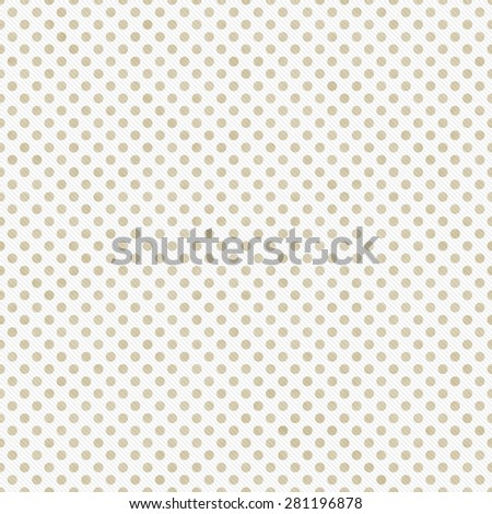 Light Beige and White Small Polka Dots Pattern Repeat Background that is seamless and repeats - stock photo