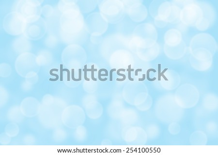light blue circle shape boke as background - stock photo