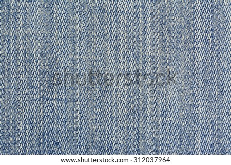 Light Blue Denim Background Horizontal Photograph - stock photo