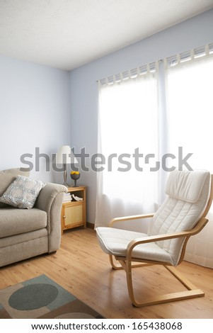 Light Blue Family Room  - stock photo
