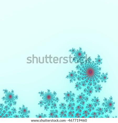 Light blue fractal background decoration