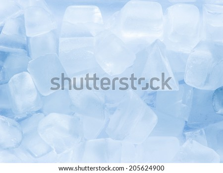 Light blue ice cubes - stock photo