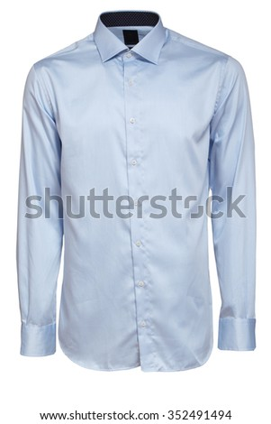light blue male shirt