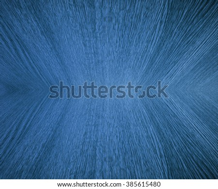 Light blue pastel wood grain, in mirror image, abstract background texture, design with diminishing perspective / depth / motion effect. - stock photo