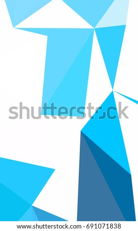 Light BLUE polygonal background. Colorful abstract illustration with gradient. Brand-new style for your business design.