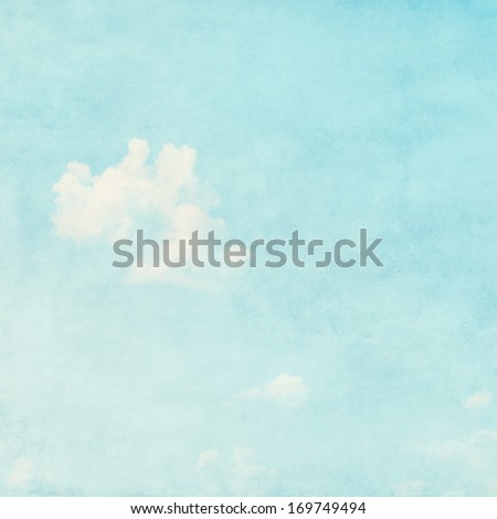 Light blue sky grunge background. - stock photo
