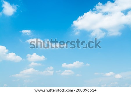 Light blue, summer sky.  - stock photo