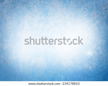 Light blue textured background with marks of erosion in the middle - stock photo