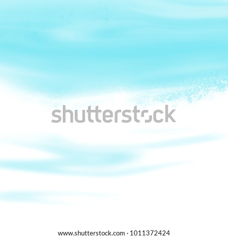 Light blue water background gradient fading to white
