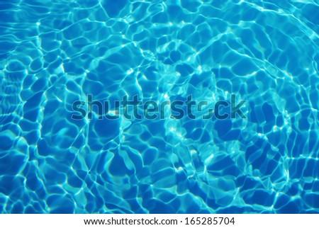 light blue water ripple background - stock photo