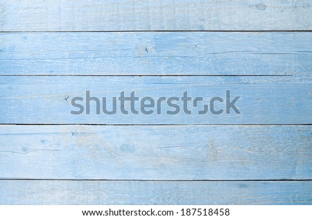 light blue wooden table texture background - stock photo