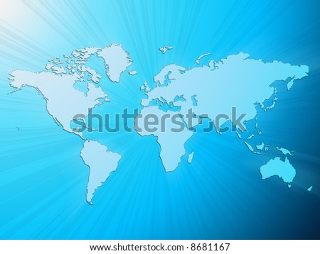 Light blue word map in a light blue background - stock photo