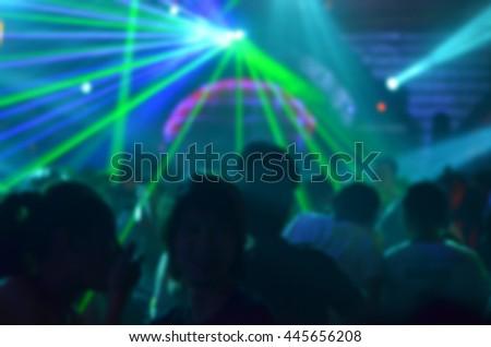 Light blur club party