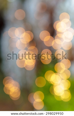 light bokeh as an abstract background