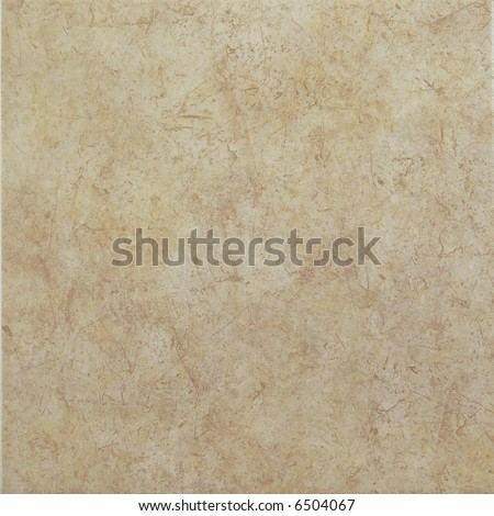 Light brown ceramic tile with scratched pattern - stock photo