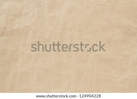 light brown crumpled paper texture, background, backdrop - stock photo