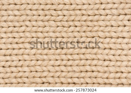 light brown knitted wool  macro photo