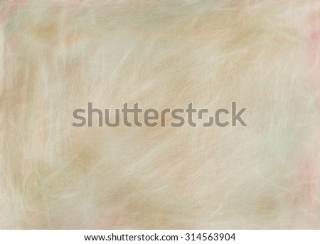 light brown paper background with white scratches, tan background color with distressed vintage texture - stock photo