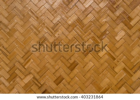 light brown rattan weave pattern background - stock photo